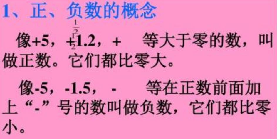人教版初一数学上册知识点总结:第一章《有理数》1.1正数和负数