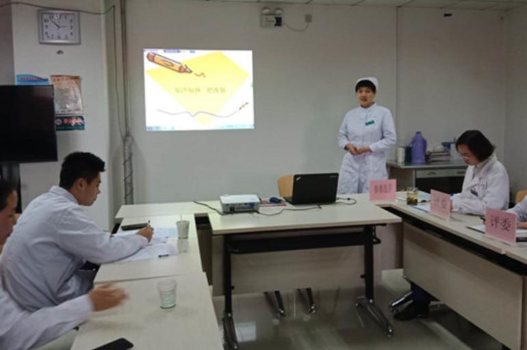 房山良乡社区卫生服务中心举办护理人员健康讲座技能比赛