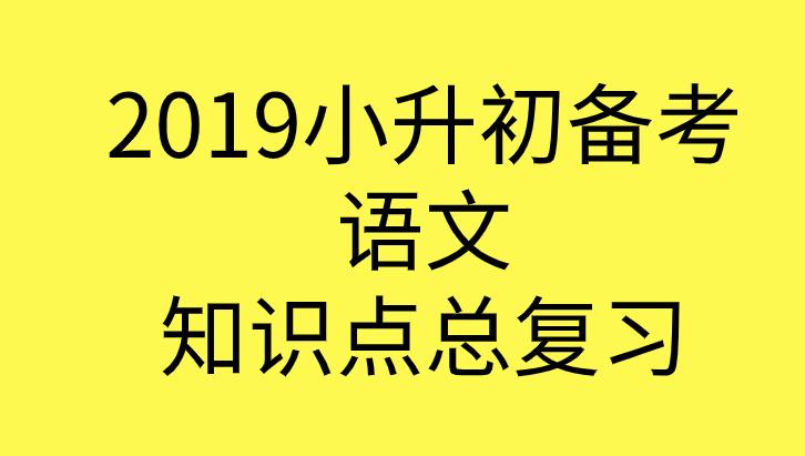 2019年小升初语文备考知识点总结总复习